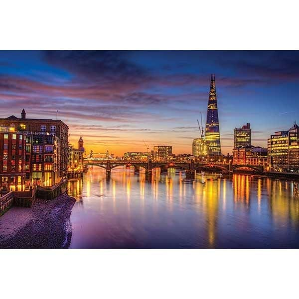 London from the Thames River