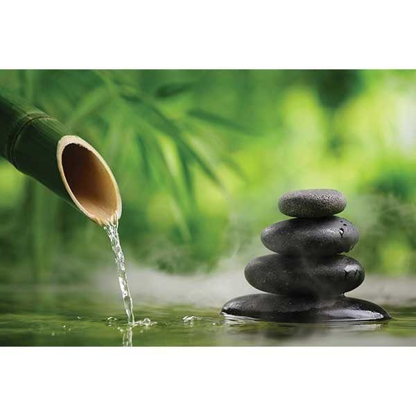 Spa Stones and Water Dripping